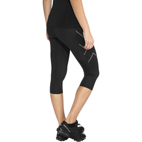 2XU Run Mid Rise Compression 3/4 Tights Damen black/ black reflective